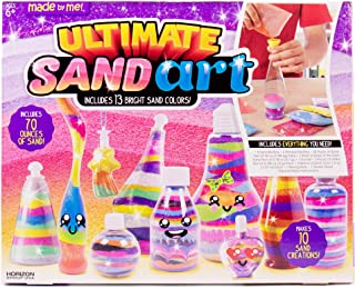 Made By Me Ultimate Sand Art Kit by Horizon Group USA, Includes 20 Pack of Colored Sand, 1 Glow In The Dark Sand, 8 Sand Bottles, 3 Pack of Glitter, Sticker Sheet (Amazon Exclusive),(Renewed)