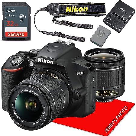 Nikon D3500 w/AF-P DX NIKKOR 18-55mm f/3.5-5.6G VR + 32GB Memory Bundle