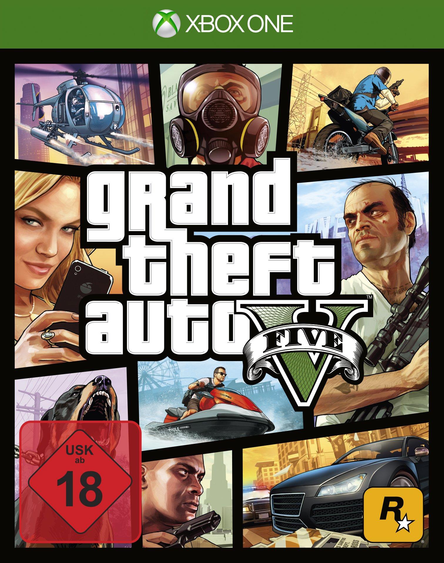 Rockstar Games Grand Theft Auto V Xbox One Básico Xbox One Alemán vídeo - Juego (Xbox One, Acción, Modo multijugador, M (Maduro)): Amazon.es: Videojuegos