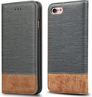 WenBelle for iPhone 7 / iPhone 8 Case, [Blazers Series] Stand Feature,Premium Soft PU Color Matching Leather Wallet Cover Flip Cases for Apple iPhone 7 & iPhone 8 Case 4.7 Inch (Grey)