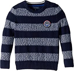 Stripe Crew Neck Sweater (Little Kids/Big Kids)
