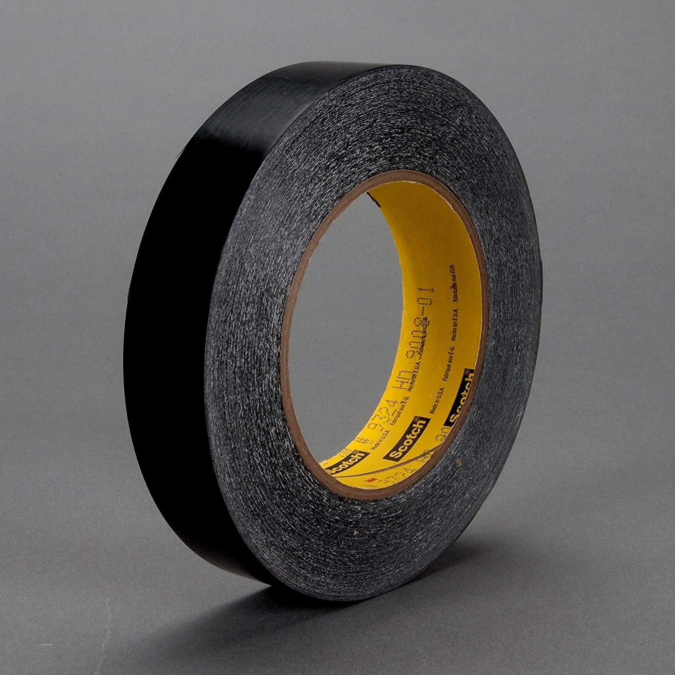 3M Squeak Reduction Tape 9324 Black, 1/2 in x 108 yd, 18 per case