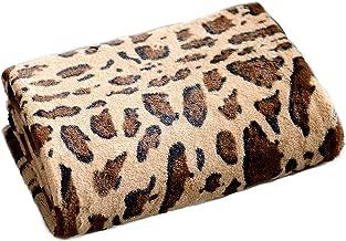 Cheer Collection Animal Print Throw Blanket | Soft Velvety Faux Fur Microplush Reversible Cozy Warm Throw Blanket - 60