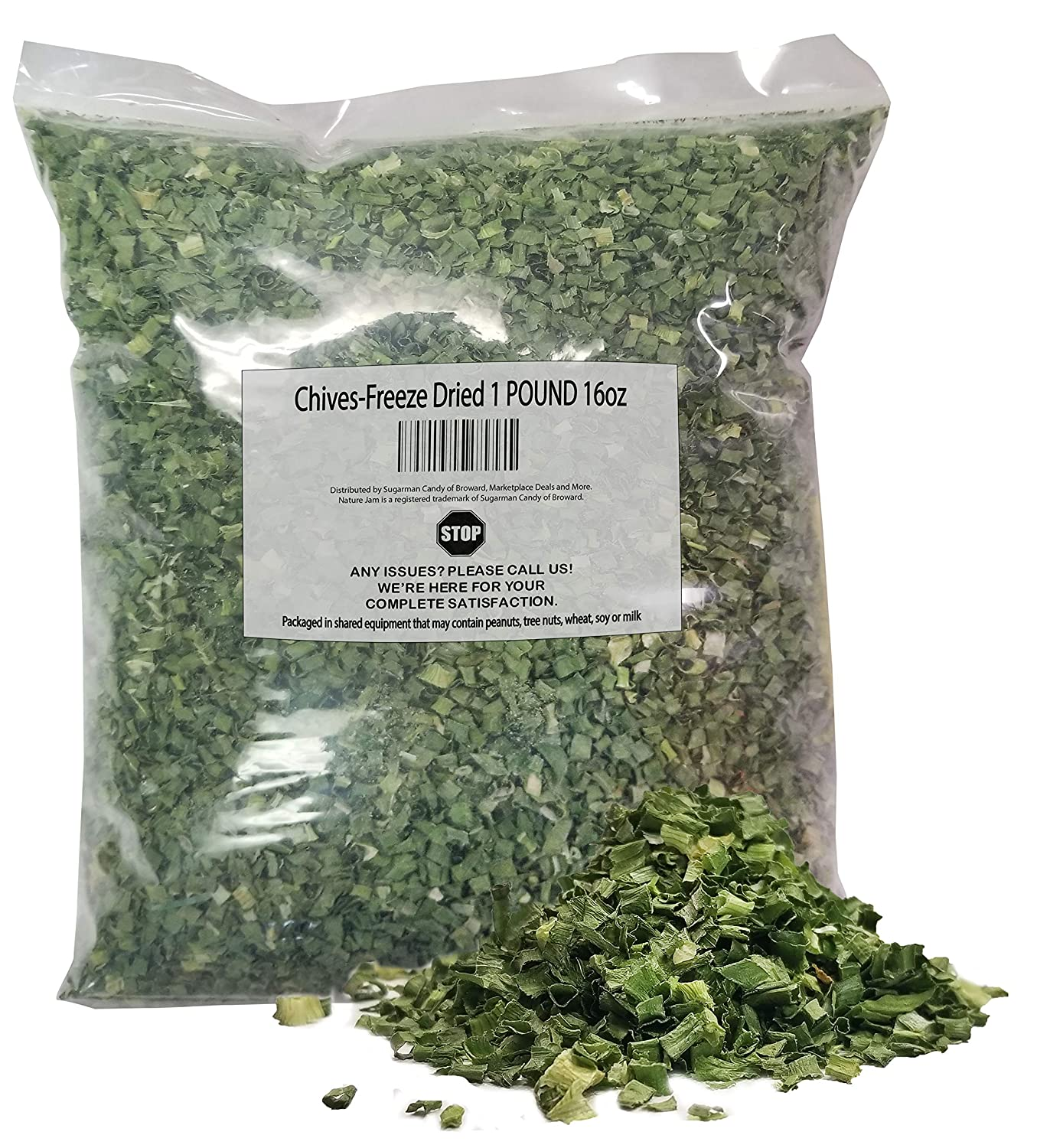 Chives-Freeze Dried Trust 1 POUND-Heat Sealed Phoenix Mall OZ Freshness 16 for