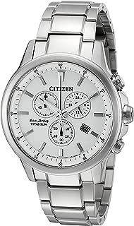 Eco-Drive Men's 'Titanium' Quartz Casual Watch, Color: Silver-Toned (Model: AT2340-56A)