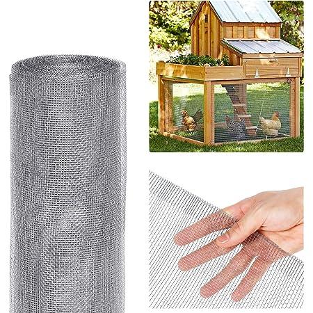 3x10 Feet Bulk Roll Rural365 Galvanized Steel Hardware Cloth 1//8 Inch Mesh Chicken Wire Fence Cage Screen Netting