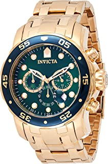 Invicta Mens Quartz Watch, Analog Display and Stainless Steel Strap 0075