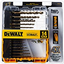 DEWALT Cobalt Drill Bit Set with Pilot Point, 14-Piece (DWA1240)