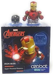 Ozobot Evo Starter Pack, w/ bonus smart skin and Markers, Iron Man, Marvel's The Avengers