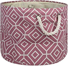 DII Collapsible Polyester Storage Basket Or Bin with Durable Cotton Handles, Home Organizer Solution for Office, Bedroom C...