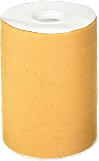 Tulle Fabric Spool/Roll 6 inch x 100 Yards (300 feet), 34 Colors Available, On Sale Now! (Old Gold)