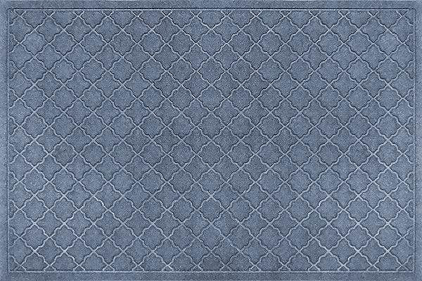 Bungalow Flooring Waterhog Indoor Outdoor Doormat 4 X 6 Skid Resistant Easy To Clean Catches Water And Debris Cordova Collection Bluestone