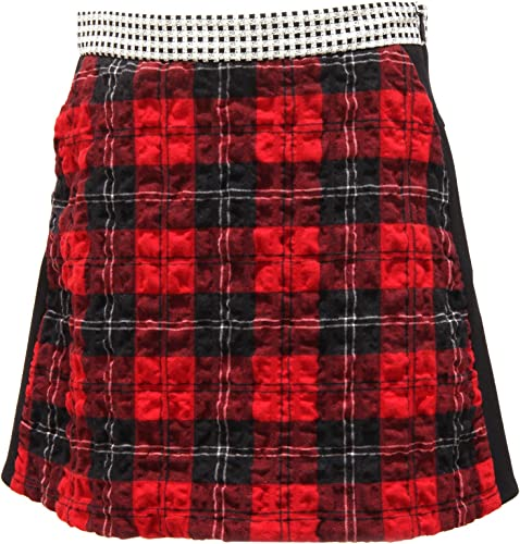 Simonetta 8587R Gonna Bimba bimateriale rouge-noir gonne jupe Enfant Enfant