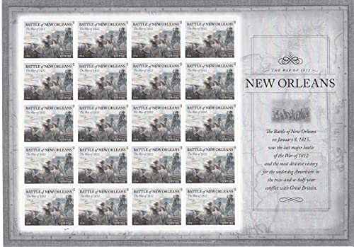 100% a estrenar con calidad original. The War of 1812  Battle of New New New Orleans USPS Forever Stamp Sheet of 20  589104 by Forever Stamp  mejor vendido