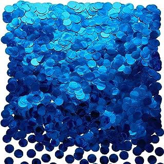 Blue Foil Metallic Round Table Confetti Decor Circle Dots Mylar Table Scatter Confetti Wedding Bachelorette Under The Sea Baby Shower Birthday Party Confetti Decorations, 50g