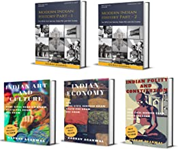 General Knowledge For UPSC Civil Service Prelims and Mains Examination: Full Gaurav Agarwal Collection of Modern Indian History, Indian Art and Culture, Indian Economy and Indian Polity