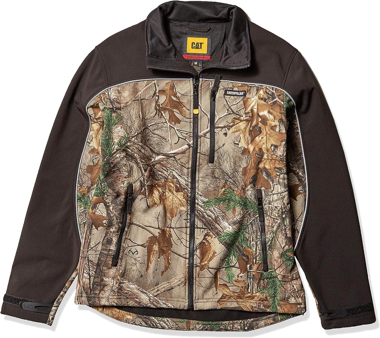 Caterpillar 直営ストア Men's Soft Shell Jacket Size 直営ストア and Big Regular Tall