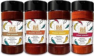 Sponsored Ad - Chili Powder 4 Pack Bundle (16 oz Total) - Tex Mex Pure Spice Mix (Chili), Ancho, Guajillo, Arbol - Great F...
