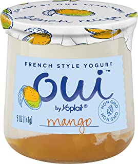 Oui by Yoplait French Style Yogurt, Non-GMO, Gluten Free Yogurt, Mango, 5.0 oz