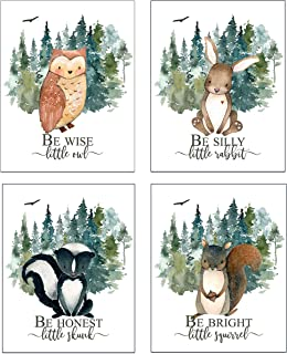 Boy Nursery Wall Decor - Baby Boy Room Decor - Woodland Nursery Decor for Boys - SET OF 4 Prints - UNFRAMED - 8 x 10 Each
