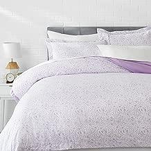 AmazonBasics Microfiber 3-Piece Quilt/Duvet/Comforter Cover Set - Queen, Lavender Paisley