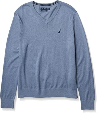 Nautica Men's Classic Fit Navtech Soft V-Neck Sweater