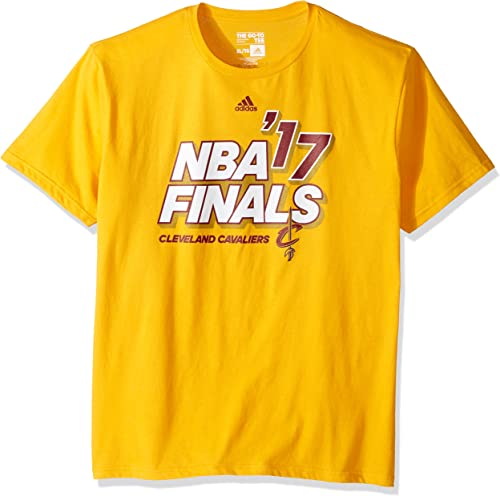 Adidas NBA Cleveland Cavaliers Hommes's Finals 3D Block Go to manche courte Tee, 2X-grand, or