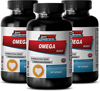 Immune Support Complex - Omega 8060 Fatty ACIDS 1500mg (Highly Concentrated Fish Oil - Pharmaceutical Grade) - Omega 3 Hea...