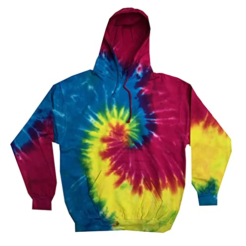 6d020462538 Colortone Youth   Adult Tie Dye Pullover Hoodie
