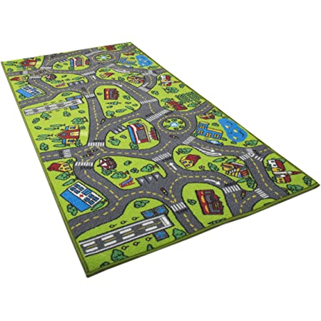 Kids Carpet Playmat Rug Fun Carpet City Map For Hot Wheels Track Racing And Toys Floor Mats For Cars For Toddler Boys Bedroom Playroom Living Room Game Play Mat