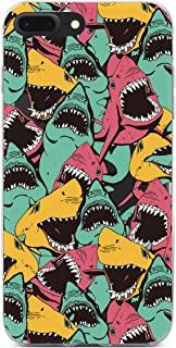 iPhone 6 Case, iPhone 6S Case, Amusing Sharks Ocean Sea Clear Soft TPU Bumper Case Rubber Silicone Cover Case for iPhone 6 / iPhone 6S - Hungry Shark