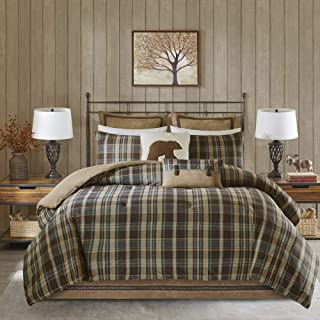 Woolrich Comforter Set, Queen, Hadley Plaid Multi