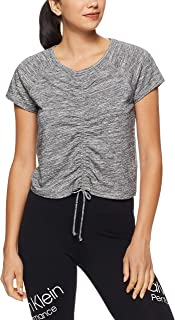 Calvin Klein Women's Ruched Front Short Sleeve Tee