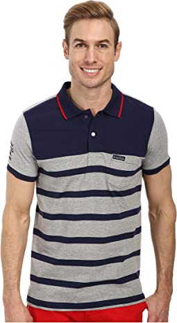 Slim Fit Color Block Jersey Polo