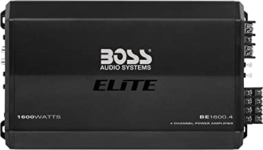 BOSS Audio Systems Elite BE1600.4 4 Channel Car Amplifier - 1600 Watts, Full Range, Class AB, 2-8 Ohm Stable, Mosfet Power Supply, Bridgeable