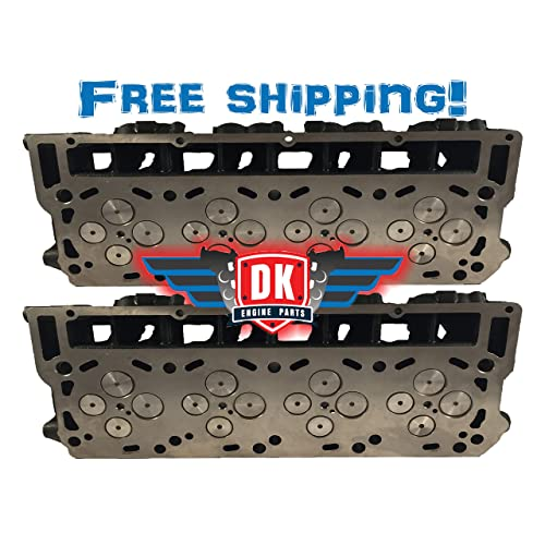 2 x NEW Improved 6.0 Ford Powerstroke Diesel LOADED Cylinder Head PAIR 03-07 No