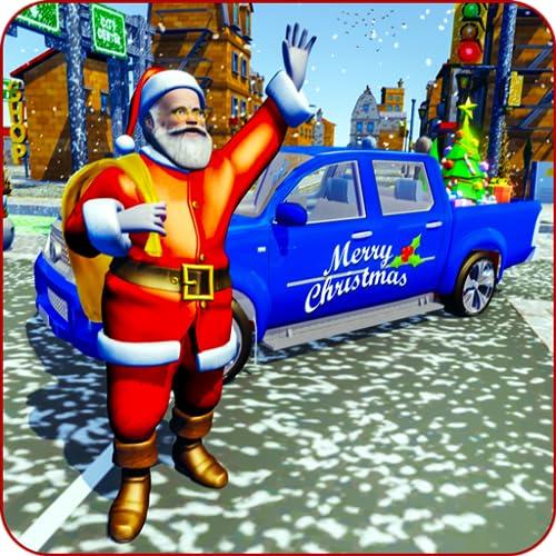 Weihnachtsmann Weihnachtsgeschenke Lieferung-4x4 Jeep Rush kostenlos Fahren und liefern Geschenke in Prado Jeep voller Weihnachtsgeschenke