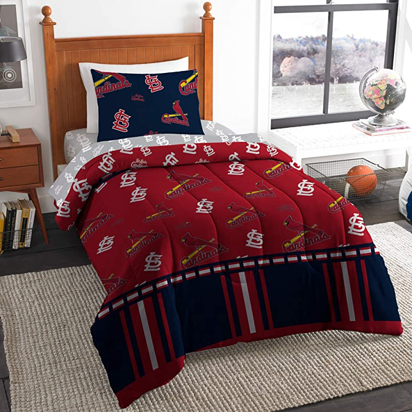 The Northwest Company MLB St. Louis Cardinals Twin Bed in a Bag Complete Bedding Set #761536710