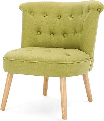 Amazon.com: Safavieh Mercer Collection Carlin Tufted silla ...