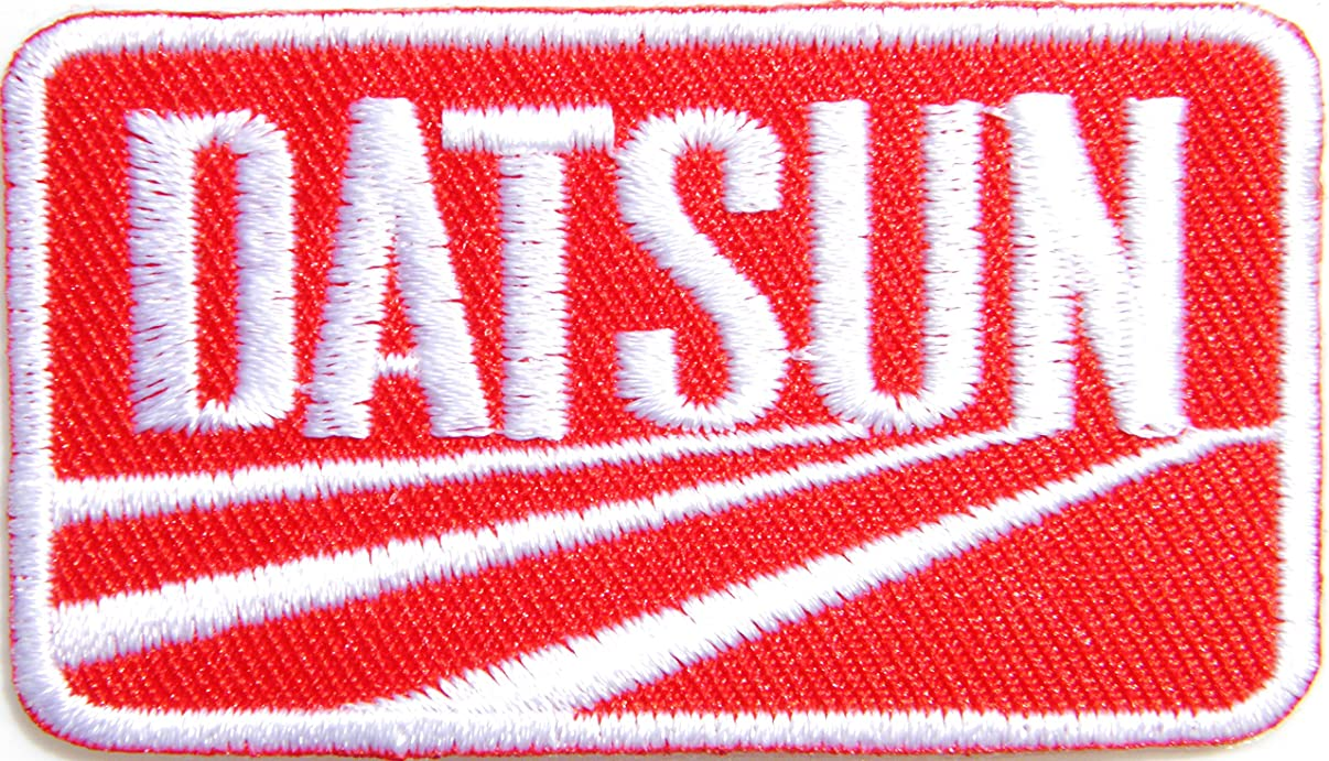 DATSUN Checker Flag Shield Logo Sign Classic Car Truck Racing Patch Iron on Applique Embroidered T shirt Jacket BY SURAPAN