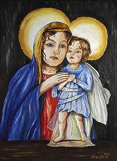 Madonna con bambino su disegno A. Darù