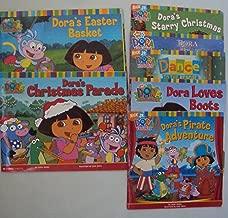 Classroom Library Book Set :Dora Loves Boots - Dora to the Rescue - Dora's Starry Christmas, Dora's Pirate Adventure - Dora's Christmas Parade - Dora Saves a Snow Princess (An Unofficial Box Set)
