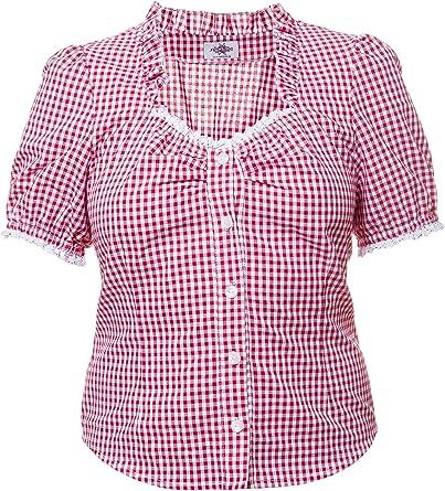 Tracht Blusa Para Piel Pantalón cuadros Vichy cuadros rojo ...