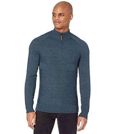 Smartwool Ripple Ridge 1/2 Zip Sweater (Deep Navy Heather/Prussian Blue Heather) Men