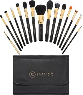 Makeup Brush Set 15 Pieces Best Premium Synthetic Kit Professional Powder Foundation Blending Buffing Contour Eyeshadow Concealer Eyeliner Lip Brushes Make Up Bag Cosmetic Organizer Holder Case