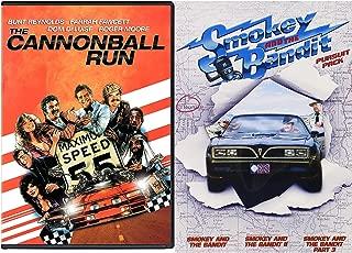 Burt Reynolds Collection Smokey & The Bandit part: 1/2/3 + Cannonball Run Movie Feature DVD 4 Comedy Favorites Set Bundle