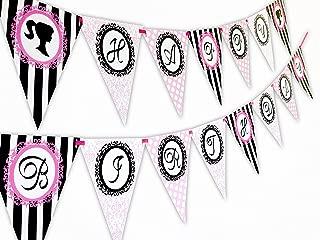 Glamour Girl Happy Birthday Banner Pennant