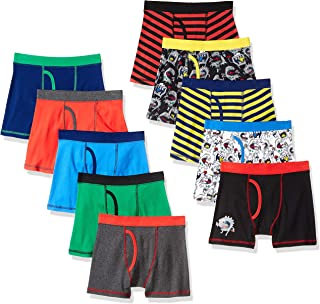 Amazon Brand - Spotted Zebra Boys' 10-Pack Boxer Brief...