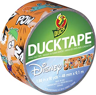 Duck Brand 281969 Disney-Licensed Phineas and Ferb Printed Duct Tape, 1.88 Inches x 10 Yards, Single Roll