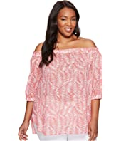 MICHAEL Michael Kors - Plus Size Pella Fern Off Shoulder Top
